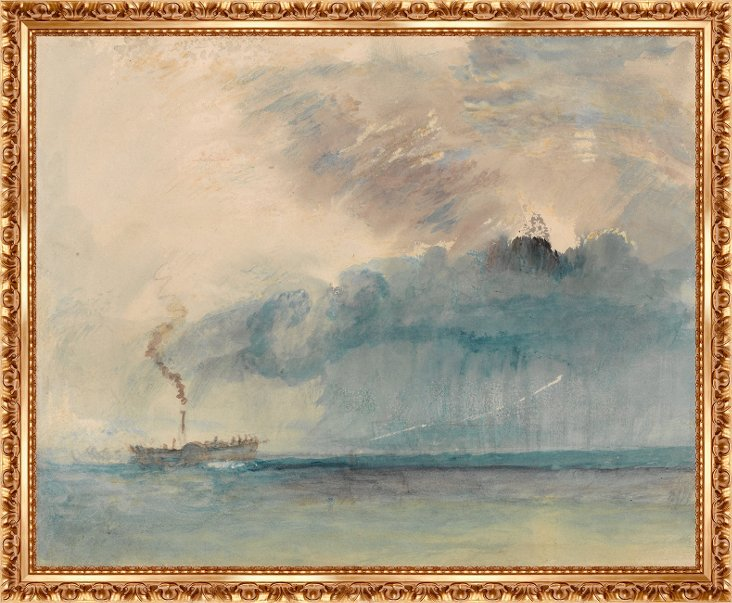 Turner, A Paddle-Steamer in a Storm
