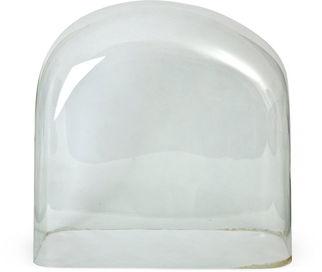 Oversize Victorian Blown Glass Dome