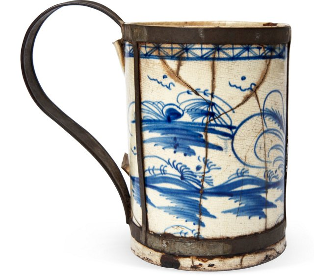 18th-C. English Make-Do Tankard