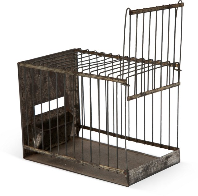 19th-C. Tin Birdcage