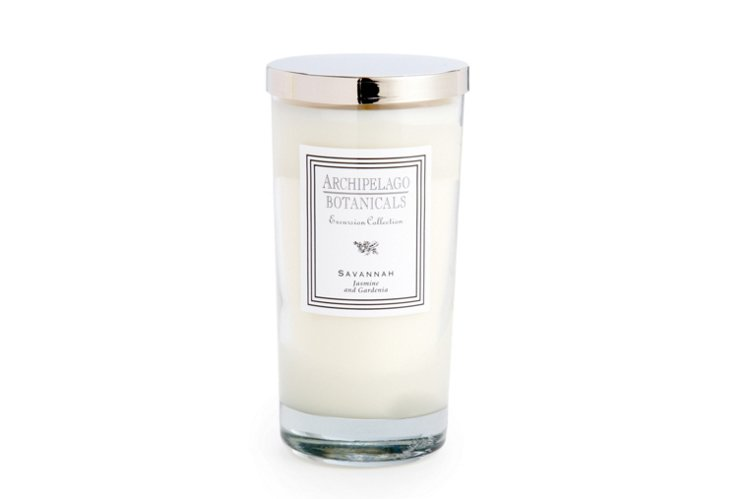 S/2 Savannah Tall Candles, Gardenia