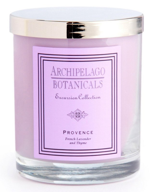 S/2 Provence Short Candles, Lavender