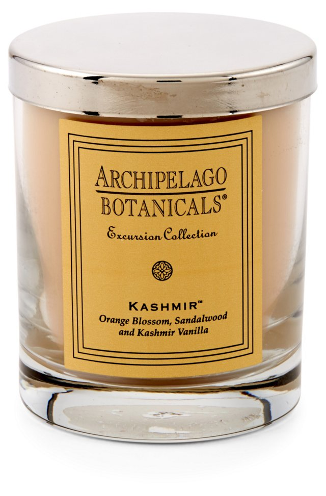 S/2 Kashmir Short Candles, Vanilla