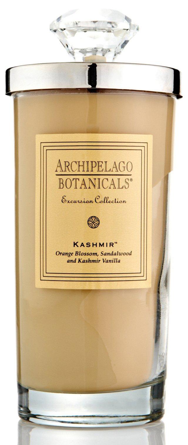 S/2 Kashmir Tall Candles, Vanilla