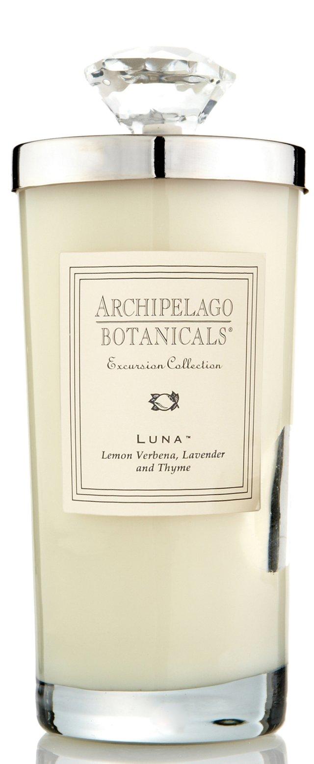 S/2 Luna Tall Candles, Lemon
