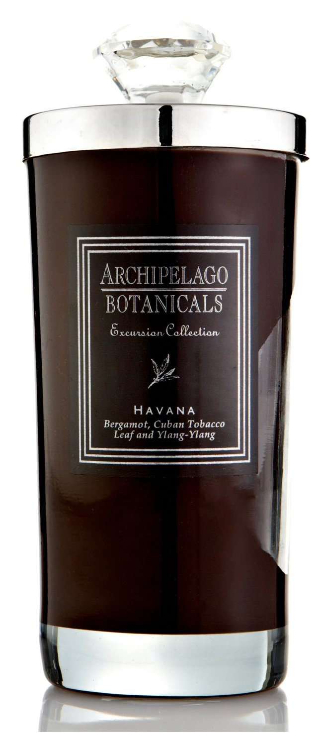 S/2 Tall Havana Candles, Tobacco