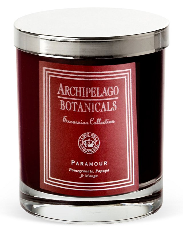 S/2 Paramour Short Candles, Pomegranate