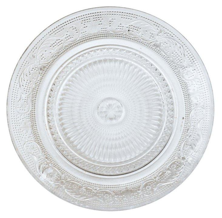 S/4 Glass Elegant Plates