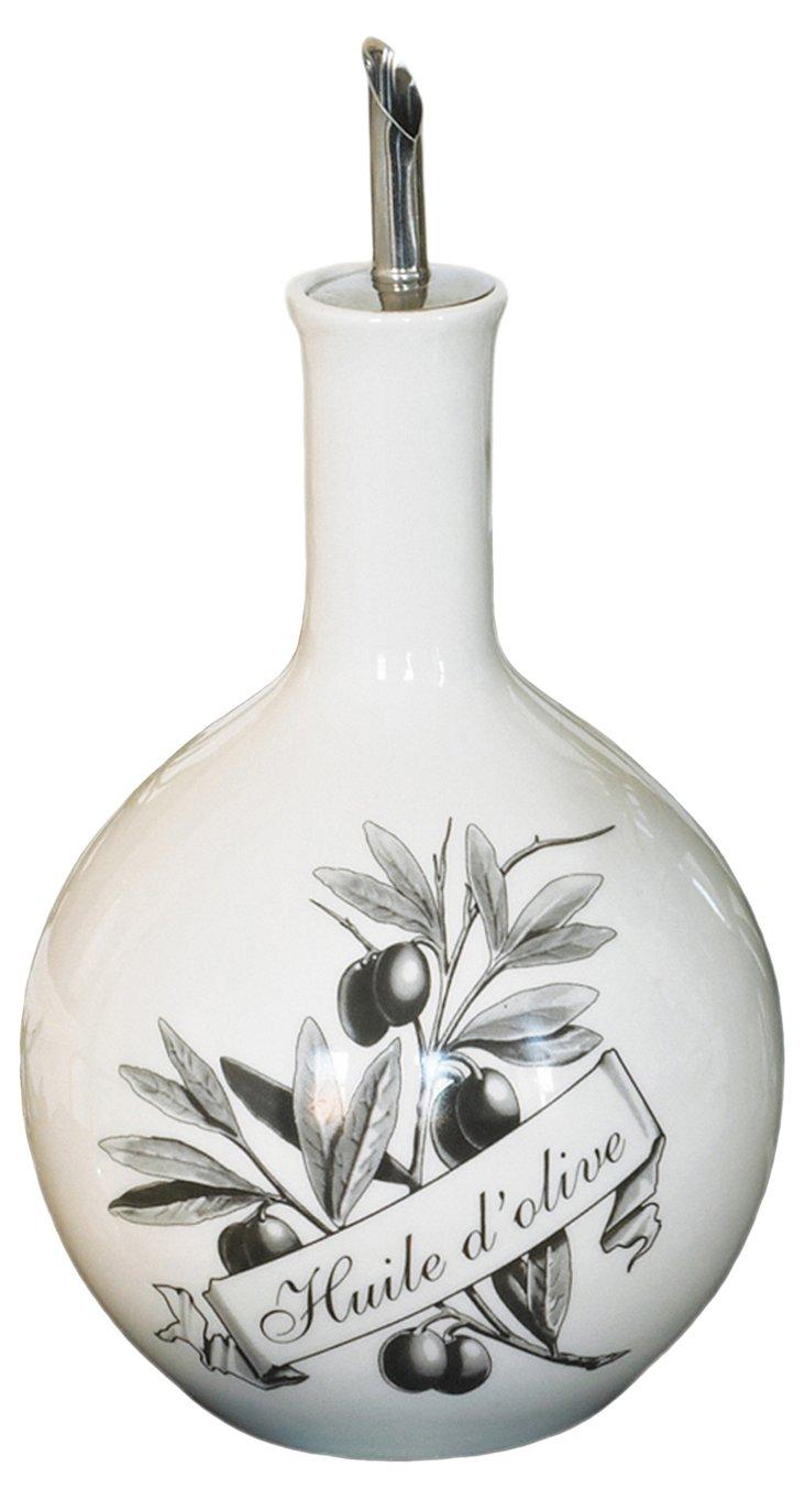 'Huile d'Olive' Porcelain Oil Jar