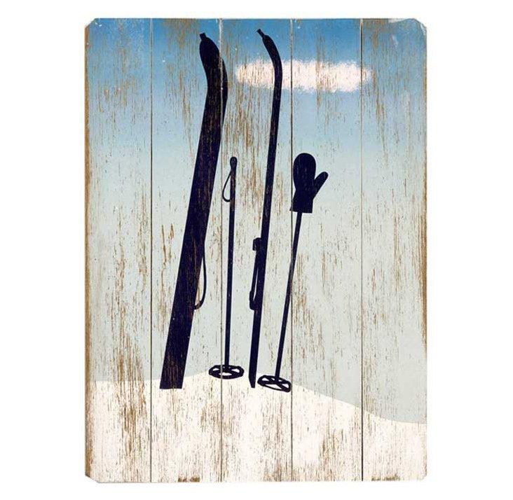Winter Ski Silhouette