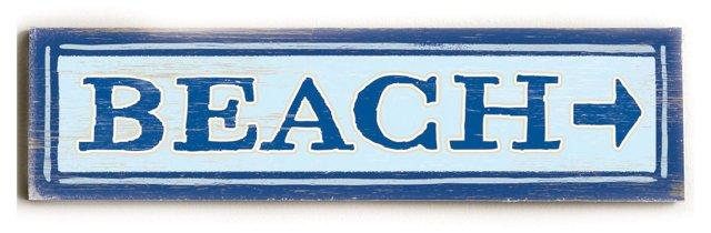 "22"" Beach Wood Sign"