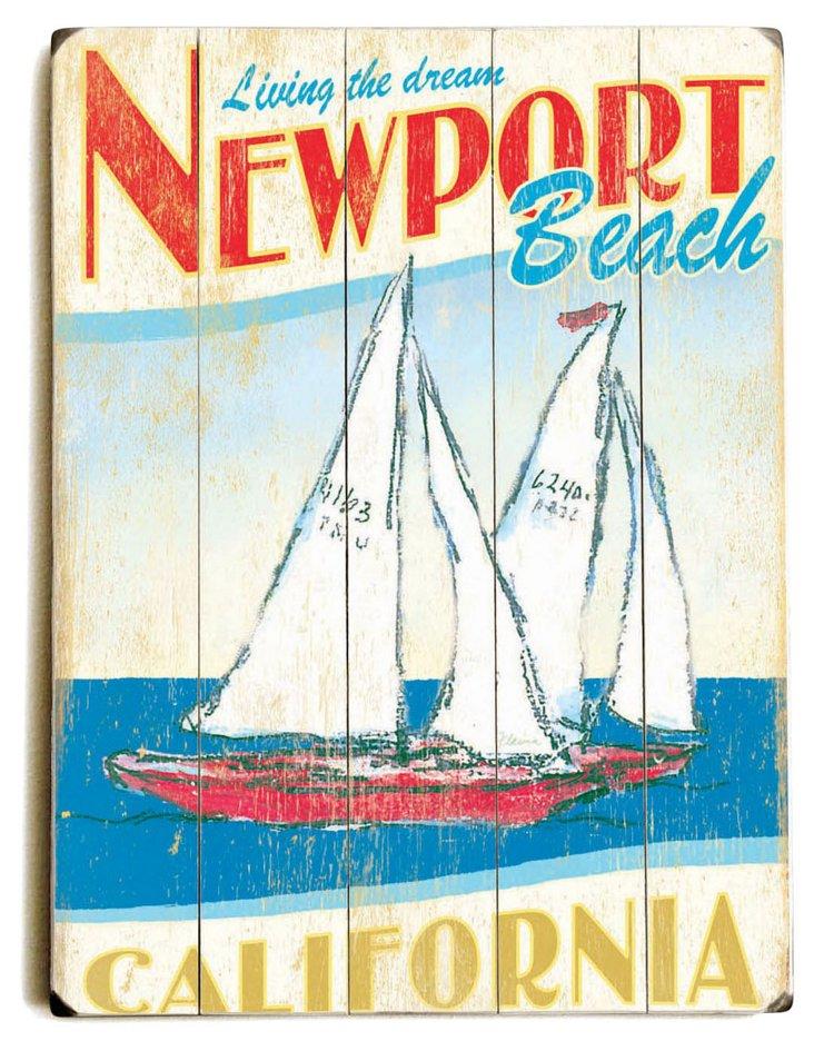 Newport Beach Wood Sign