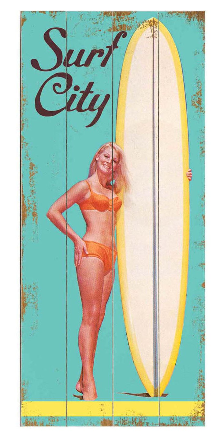 Surf City Wood Sign