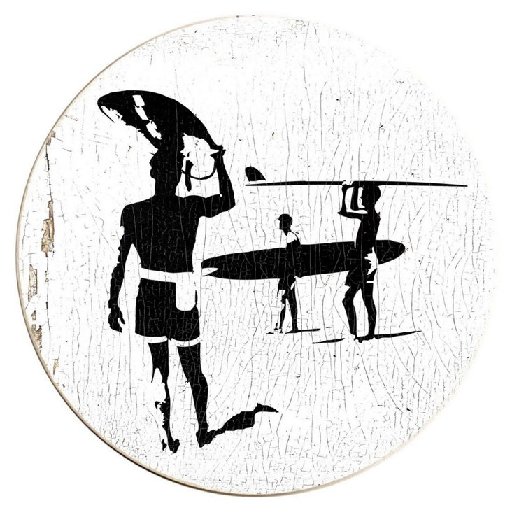 """18"""" Surfers Wood Sign"""