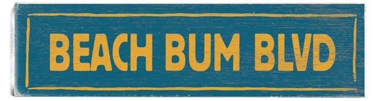 Beach Bum Blvd Wood Sign