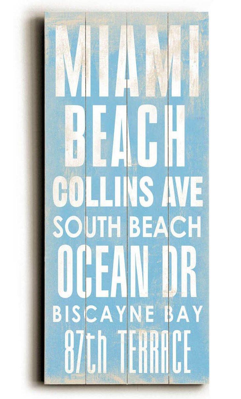 Miami Beach Wood Sign