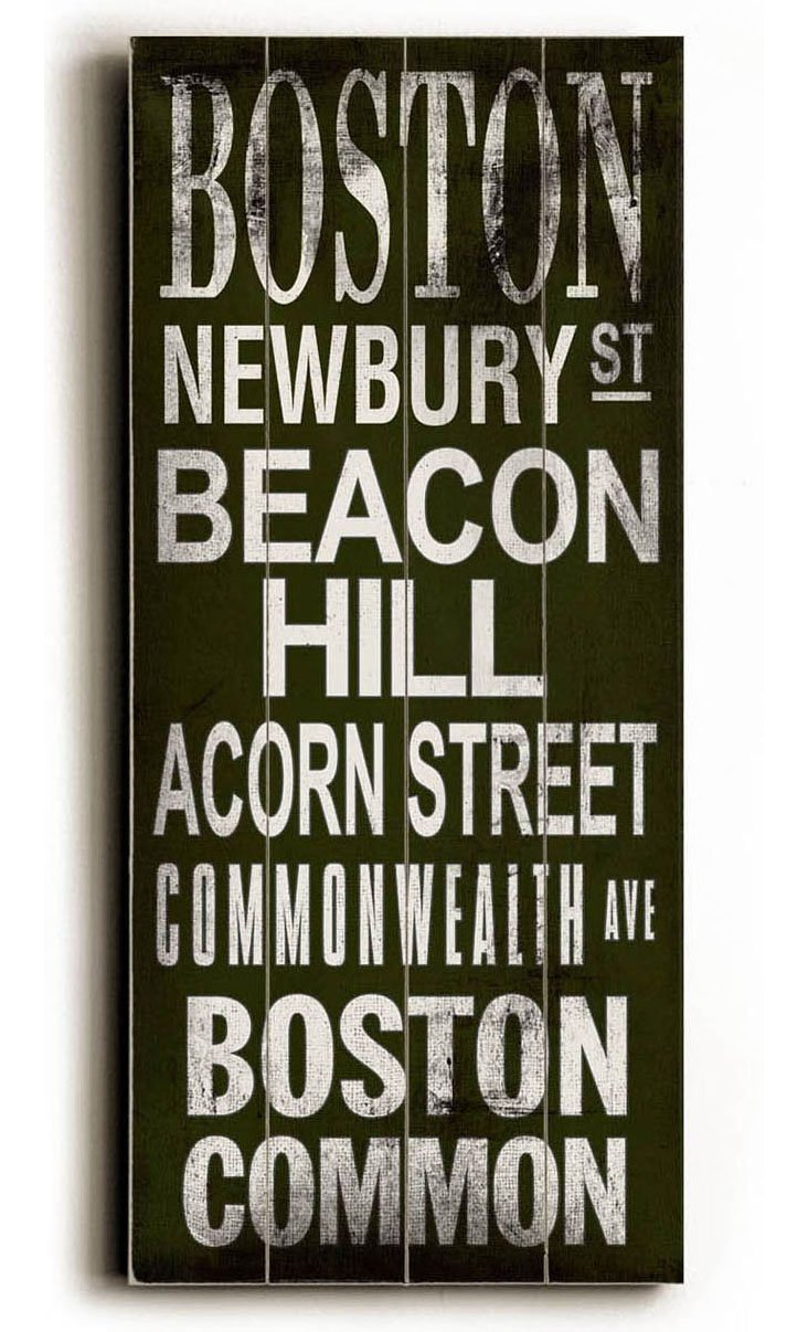 Boston Wall Sign
