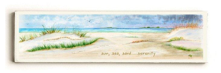 "22"" Sun, Sea, Sand and Serenity Sign"