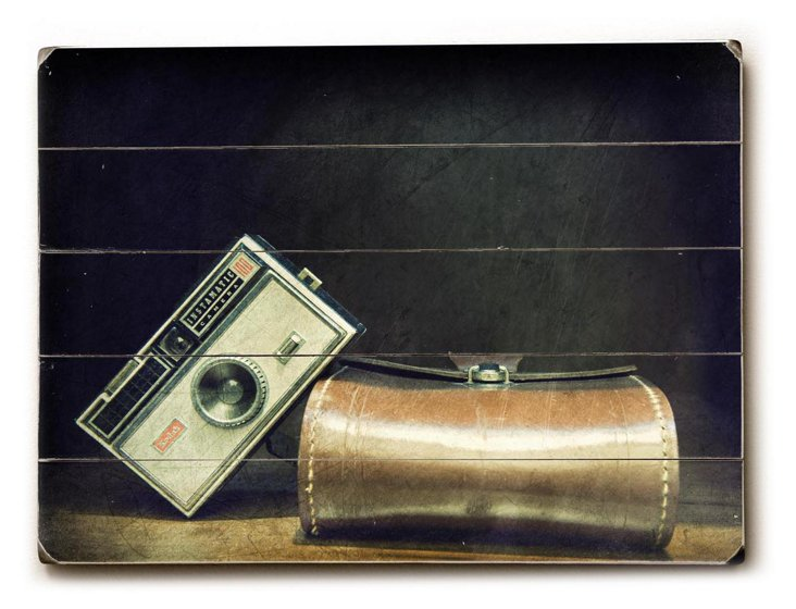 Vintage Camera Wall Sign, Black