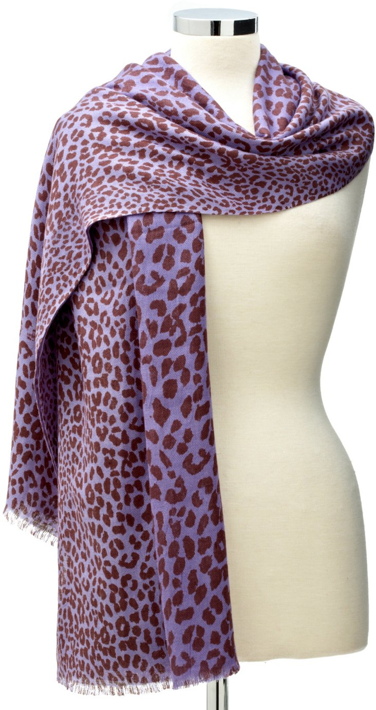 Ombré Leopard  Wrap, Purple