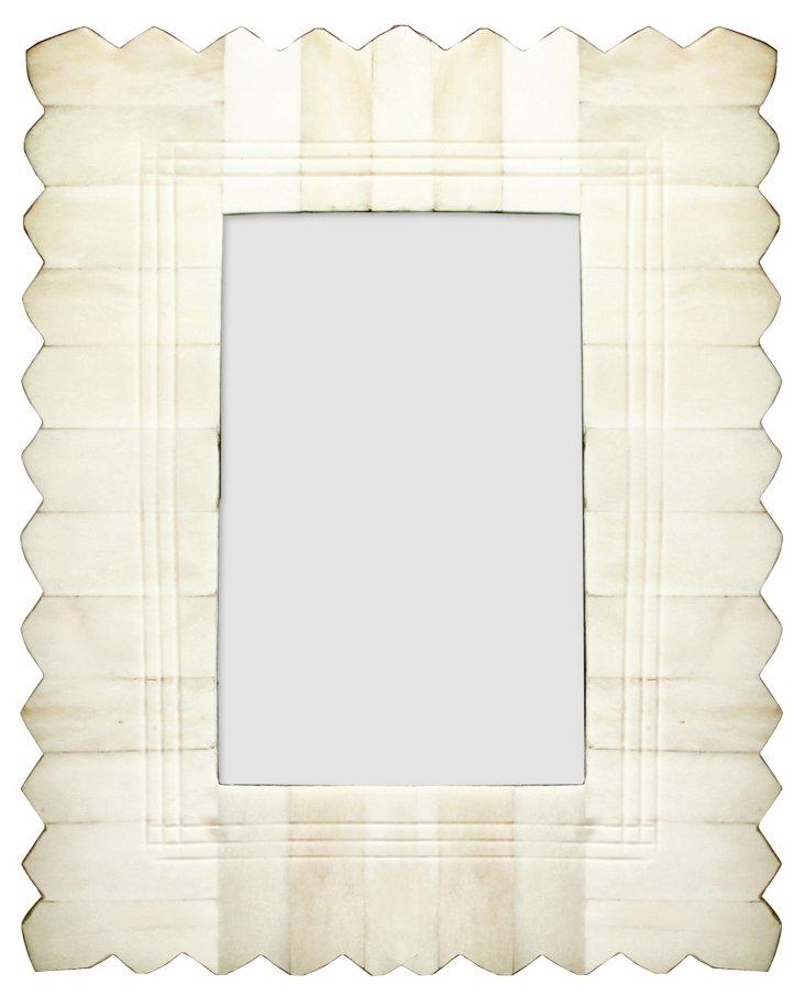 Edge Carved Bone Frame, 4x6, Ivory