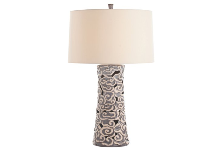 Olesia Slate Wash Porcelain Lamp