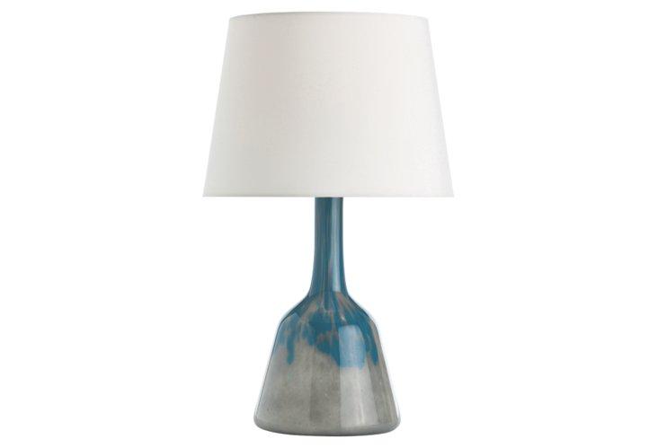 Rocco Turquoise Smoke Lamp