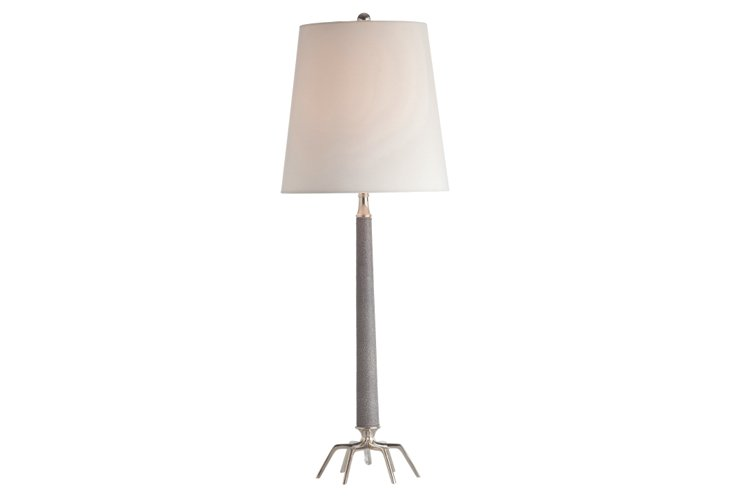 Riley Polished Leather Lamp