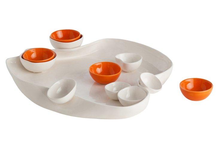 Tessa Porcelain Irregular Tray