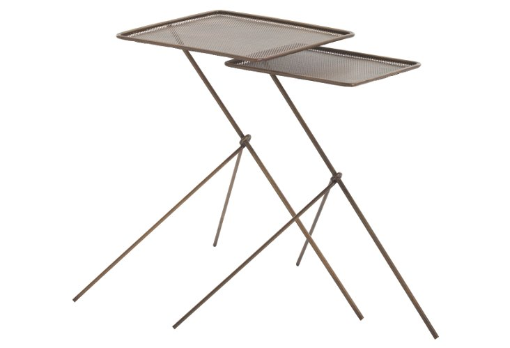 Brass Talon Nesting Tables, Set of 2