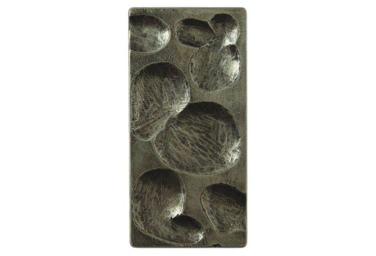 Raindrop Silver Small Rectangle Panel