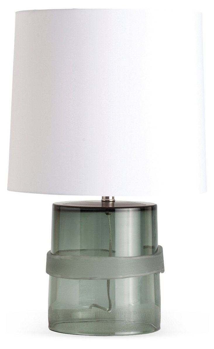 Topher Banded Glass Lamp