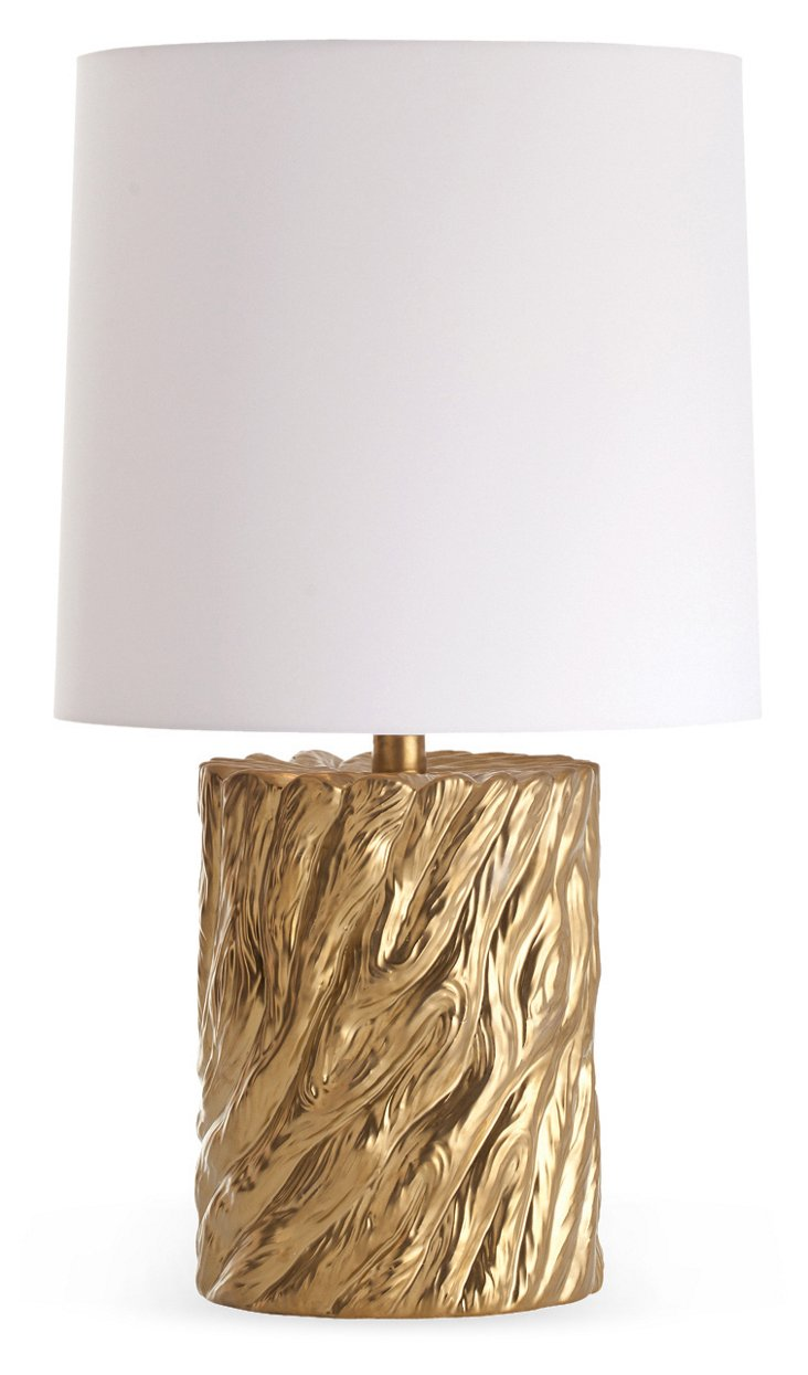 Yukon Gold-Plated Porcelain Lamp