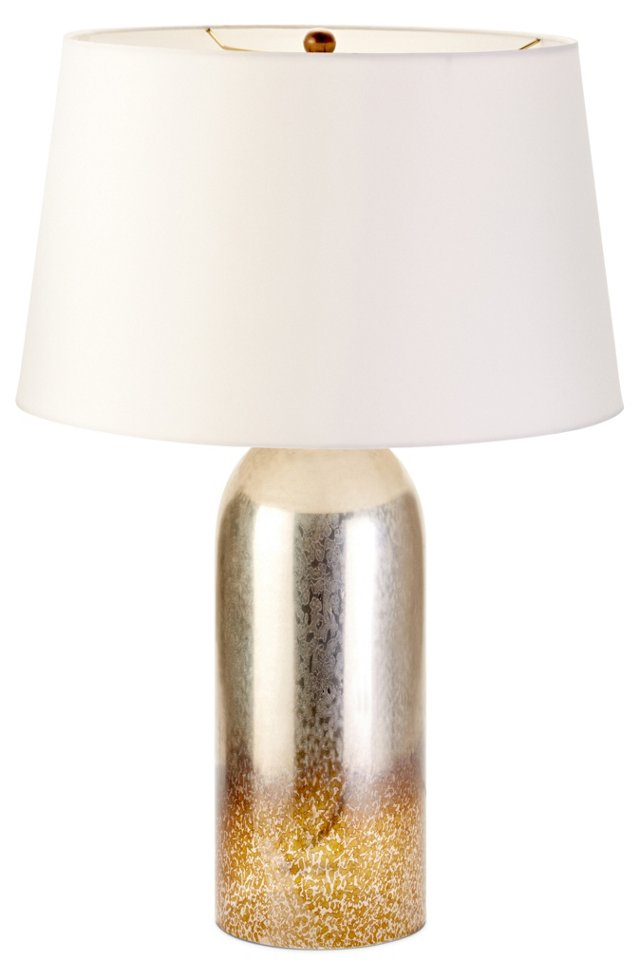 Salinas Round Table Lamp, Silver/Gold