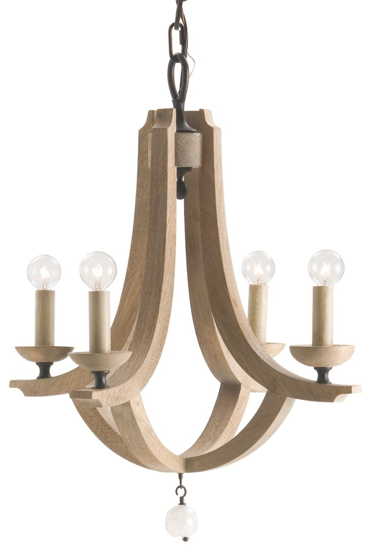 Manning Small Chandelier, Natural