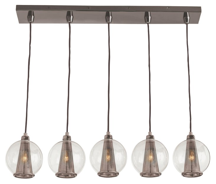 Caviar Linear Pendant, Brown Nickel