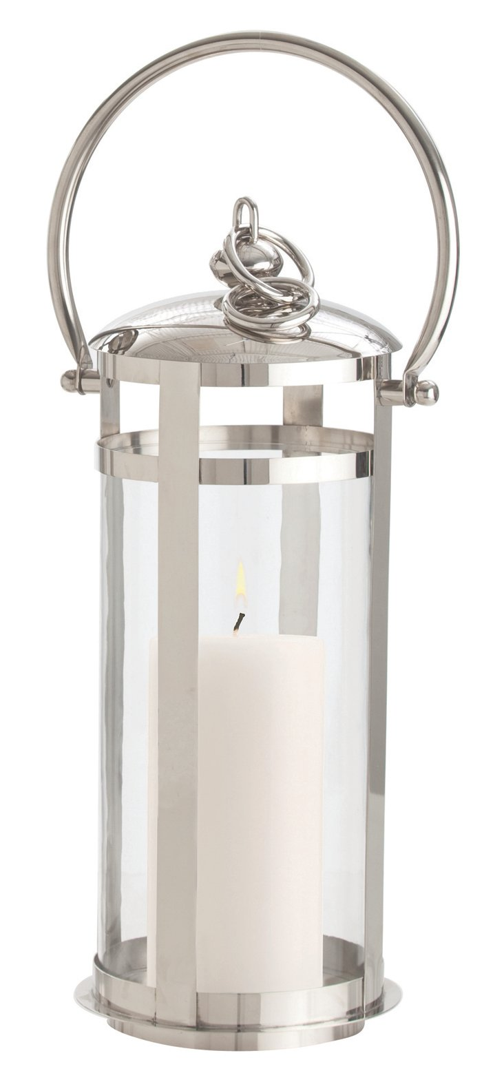 Hampton Short Lantern, Polished Nickel