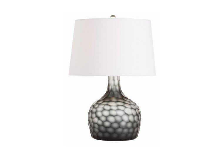 Cosima Table Lamp, Smoke Glass