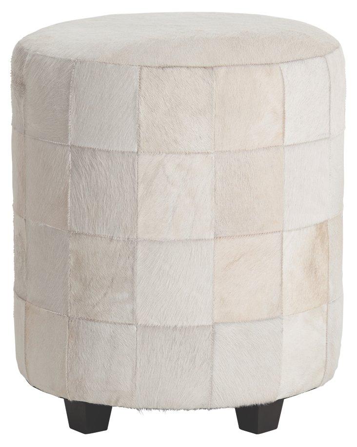 Wimberely Ottoman, White