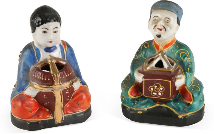 Chinese Incense Burners, Pair