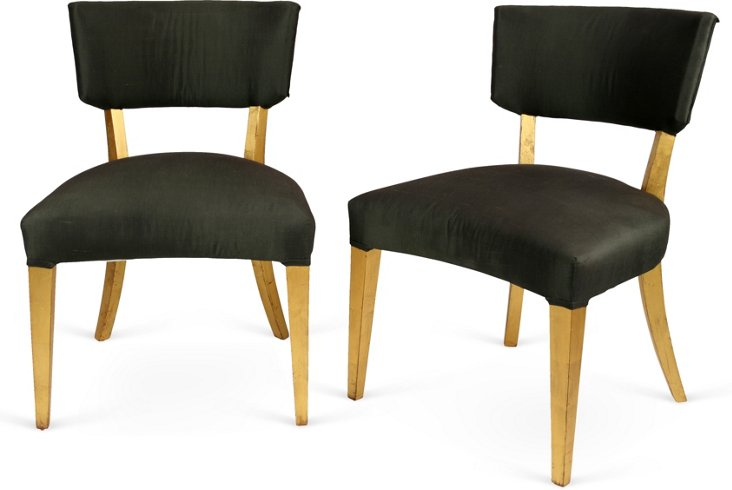 Armless French Fauteuils, Pair
