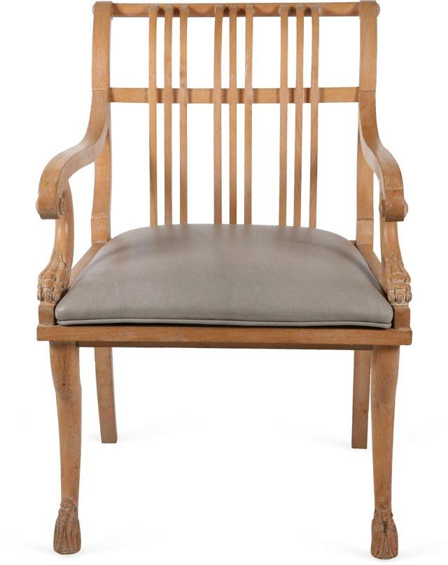 Regency-Style Library Oak Chair
