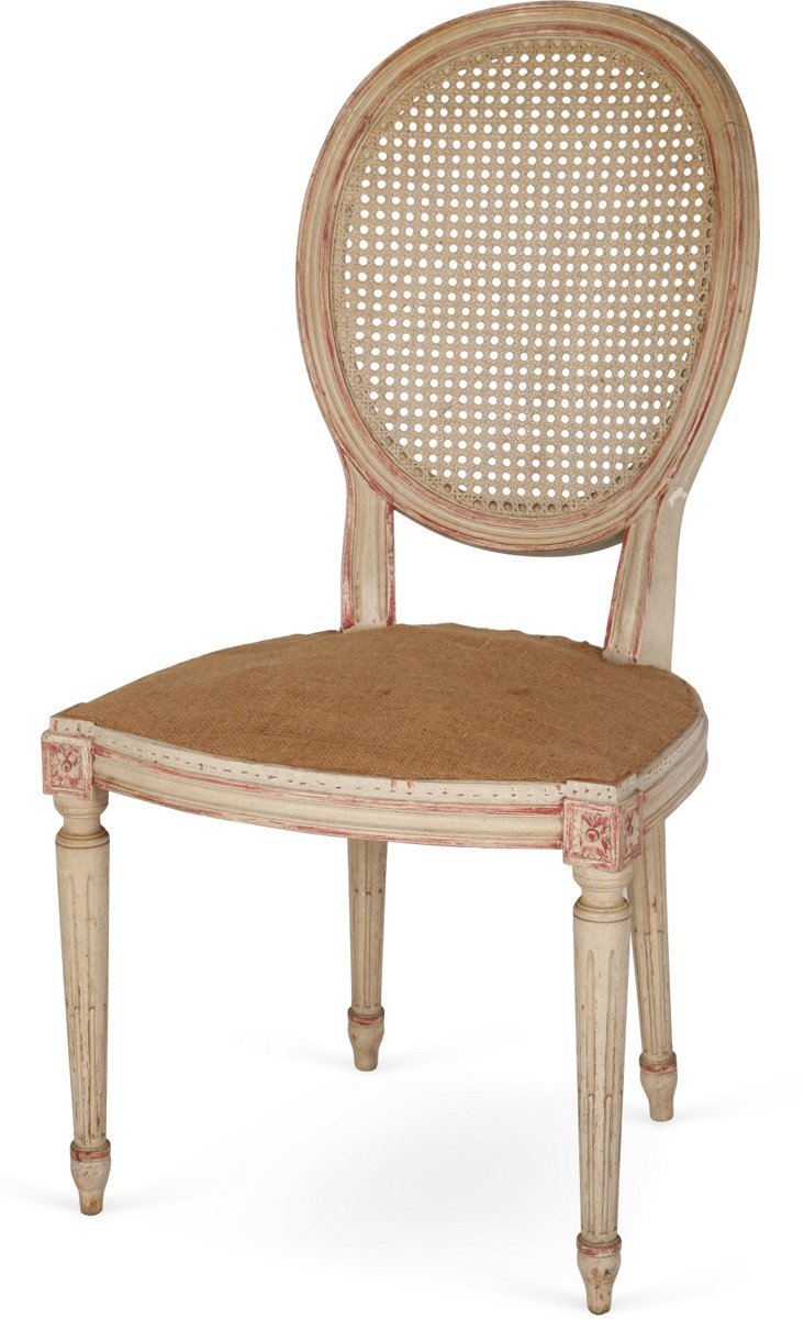 Caned Round Back Chair