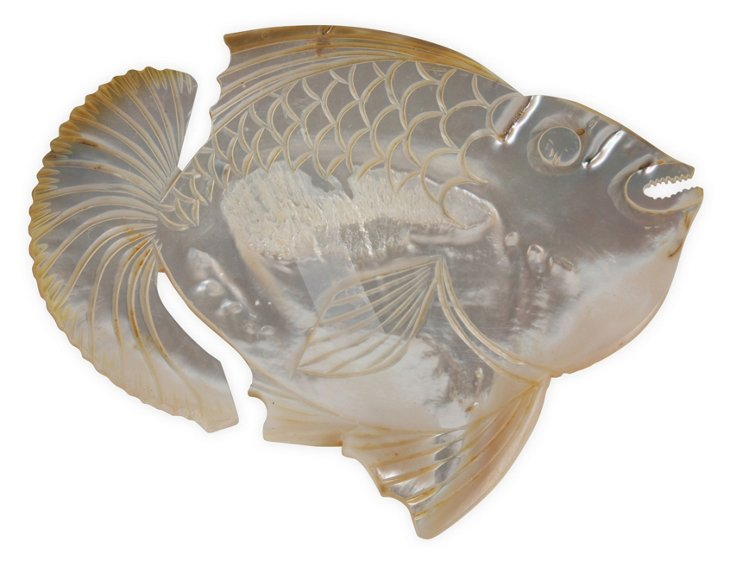 Vintage Carved Shell Fish