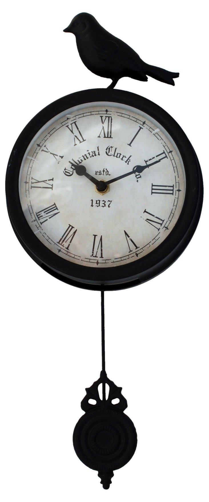 Bird & Pendulum Wall Clock