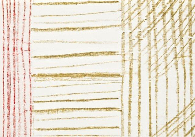 Rachel Roy Stripes Gift Wrap, 5 Sheets