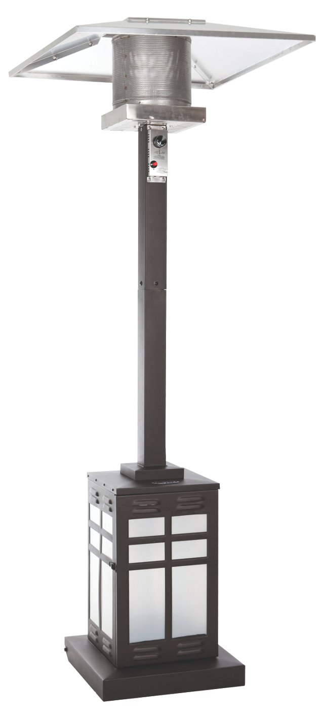 "89"" Illuminated Patio Heater, Mocha"