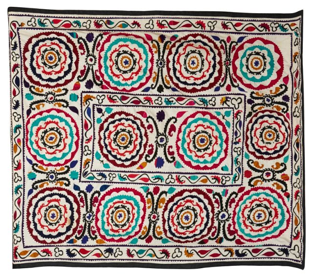 Colorful Suzani Throw