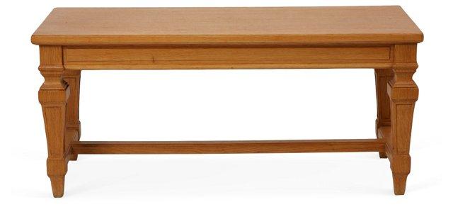 19th-C. French Oak Bench