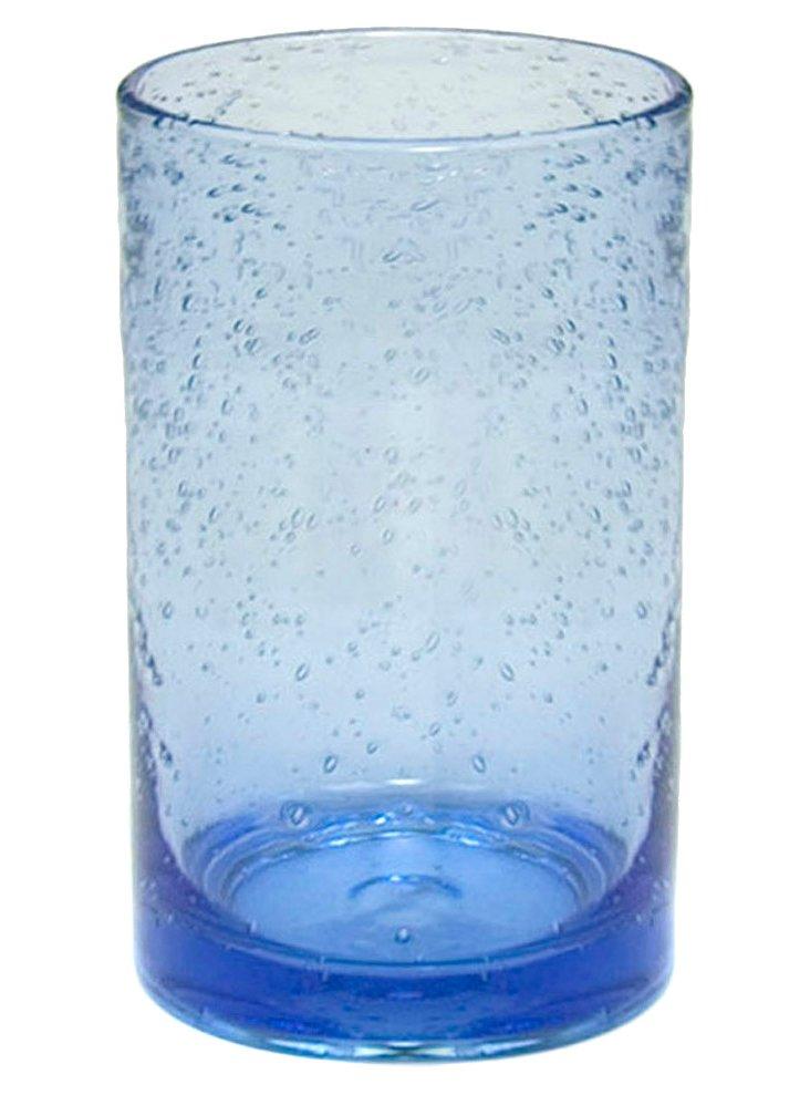 S/6 Iris Highballs, Blue